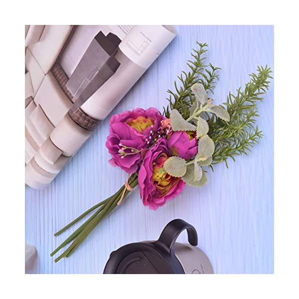 LulianRosemary-Bunch-Artificial-Silk-Flowers-Non-Fading-for-Home-Kitchen-Office-Decor-Wedding-Party-Decorations-Living-Room-Decor-Farmhouse-Decor-Fake-Plants-for-DIY-Wall-Decor-Spring-Wreath1pcRed