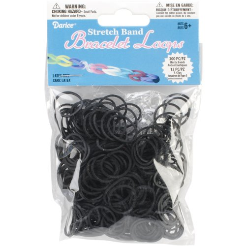 (Darice RB1000 312-Piece Stretch Band Bracelet Loops and S-Clips Set,)