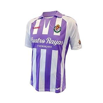 Hummel Real Valladolid CF Primera Equipación 2018-2019, Camiseta, Violeta-Blanco, Talla XL: Amazon.es: Deportes y aire libre