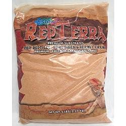 Estes Gravel Products SES60105 5-Pack RepTerra Reptile Calcium Carbonate Sand, 5-Pound, Slickrock Red