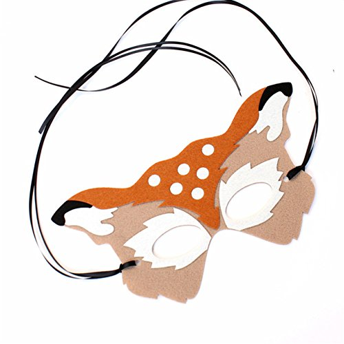 Phonbe8 Chrismas Womens Costume Deer Face Mask Masquerade Ball Carnival Party