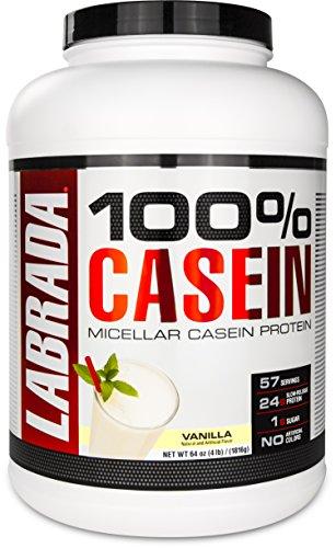 Labrada Nutrition 100% Casein Micellar Protein Powder, Vanilla, 4 Pound by Labrada