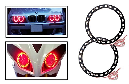 Vheelocityin Red Angel Eyes SMD LED Ring Light Devil Light (set of 2)