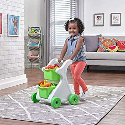 Step2 Modern Mart Shopping Cart | Kids Pretend Play Grocery Cart | Removable Baskets: Toys & Games