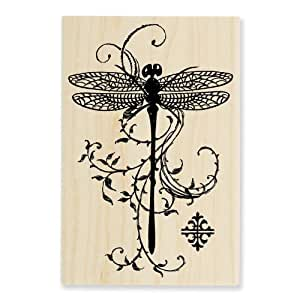 Stampendous p119 wood handle rubber stamp for Rubber stamps arts and crafts