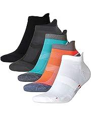 DANISH ENDURANCE Low-Cut Sportsocken im 5er oder 3er Pack, Damen & Herren, Kurze Sneakersocken, Laufsocken, atmungsaktiv, für Fitness, Tennis, Joggen, Laufen, Alltag, schwarz, weiß