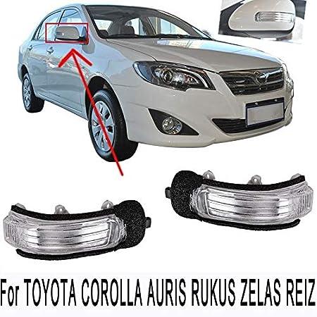 CUHAWUDBA Led Luz De Se?al De Giro De Espejo Lateral Retrovisor para Corolla Auris Rukus Zelas Reiz Mark X Scion Xb TC Passo Blade 81730-22180