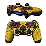MODFREAKZ Pair of Vinyl Controller Skins – Radioactive Fan Warning for Playstation 4 For Sale