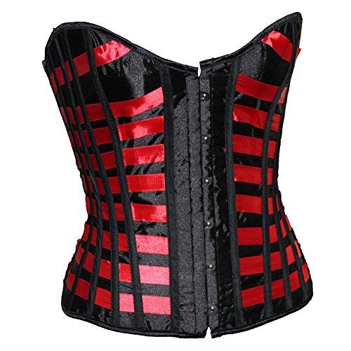 ZAMME Women's Burlesque Corset Bustier Lingerie Top Halloween Costume]()