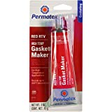 Permatex 81160 High-Temp Red RTV Silicone Gasket, 3 oz