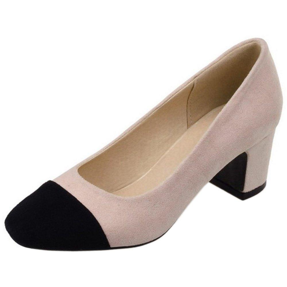 Zanpa Damen Mode Pumps Mid Heel32 EU|1#pink