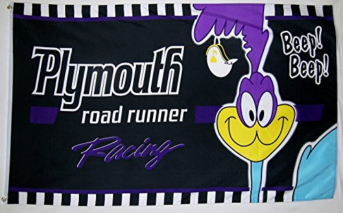 Plymouth Roadrunner Car Flag 3' X 5' Indoor Outdoor Auto - Plymouth Stores