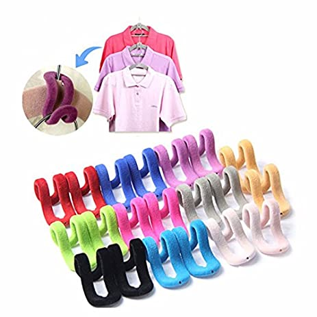 10Pcs Hooks For Clothes Hangers Mini Creative Flocking Clothes Hanger Hook  Closet Organizador For Travel Flocking