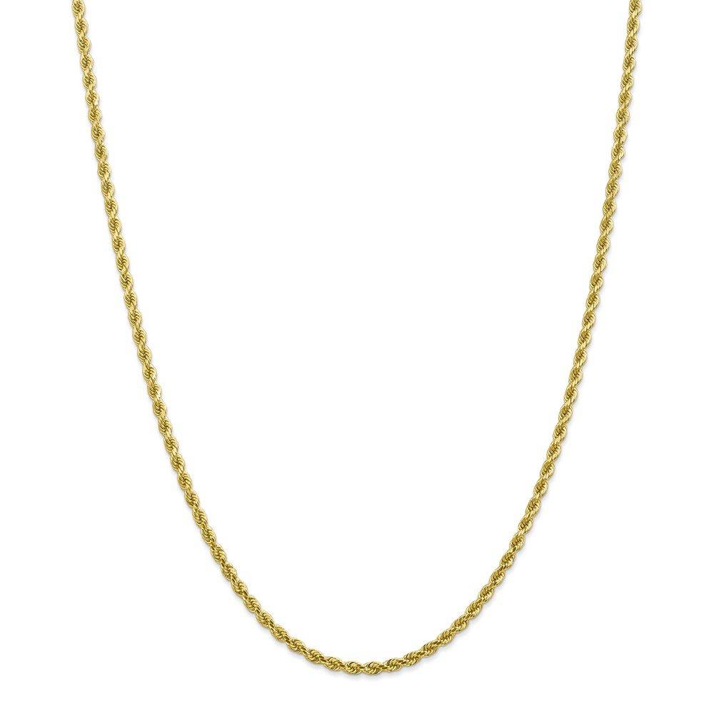 10k 2.75mm Handmade Diamond-cut Rope Chain