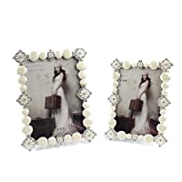 SXELODIE Vintage Creative Pearls Photo Frame-Glass Front,6Inch