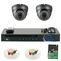GW Security GW4CH2C1082CVM 4 Channel HD-CVI DVR 2.8-12mm Zoom 2MP 1080P Sony Dome Security Camera System