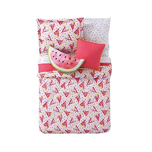 Laura Hart Kids Printed XL 2-Piece Comforter Set, Twin X-Large, Fruity (Set Twin Printed)