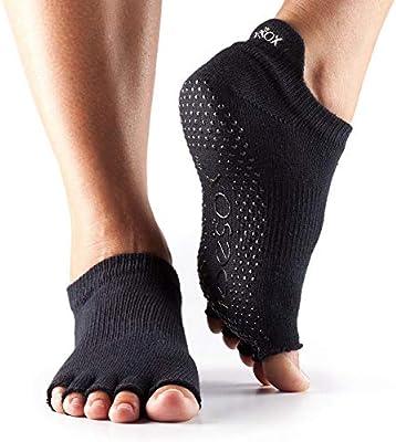 Mujer 1 par Toesox Yoga Calcetines, diseño de corte bajo, de ...