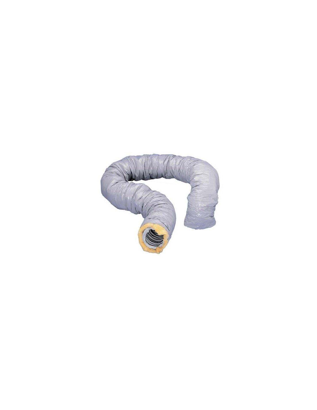 Gaine VMC souple pvc isolé e 25mm Ø 80 mm longueur 6 mê tres UNELVENT