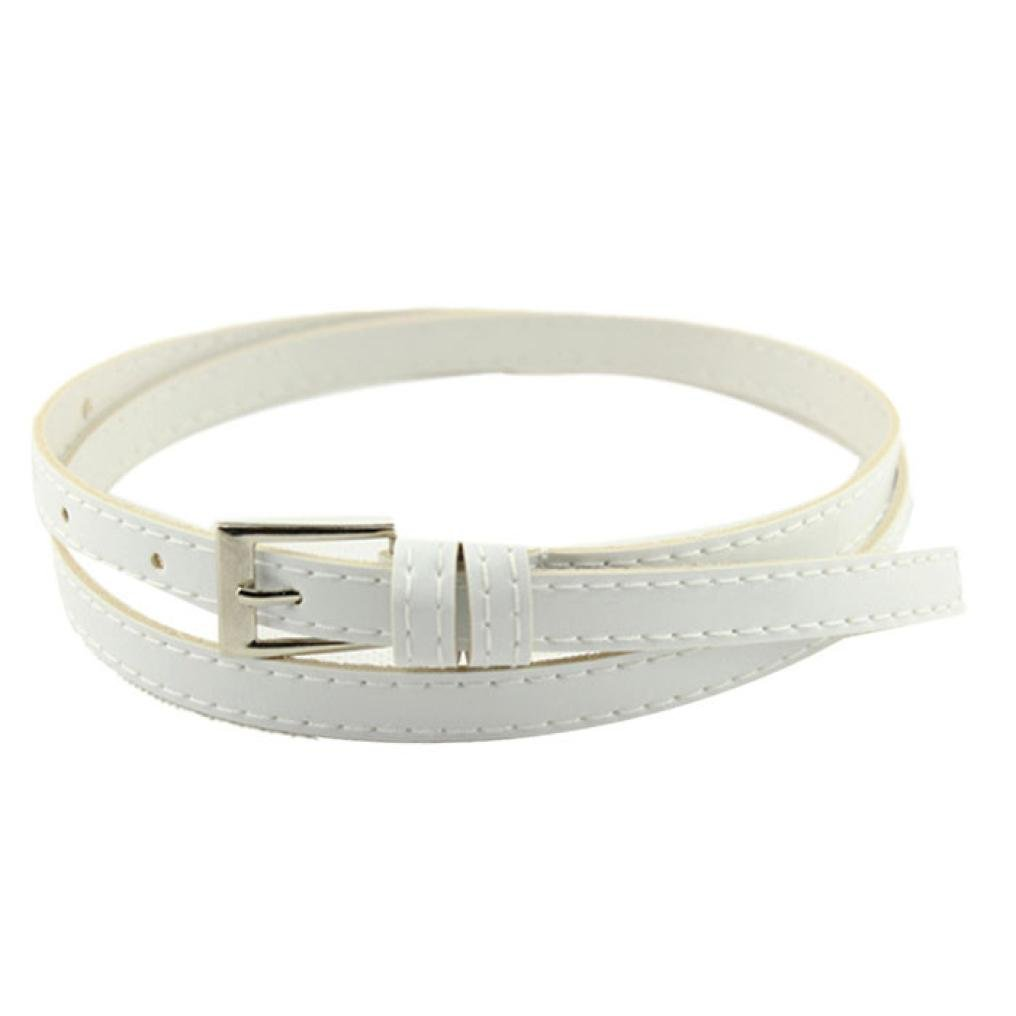 Sinfu Belts for Hot Beautiful Woman Multicolor Small Candy Color Thin Leather Belt Ms Belt