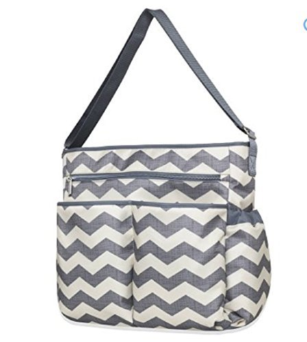 Tender Kisses 8 Piece Chevron Super Set Diaper - Diaper Bag Piece 8