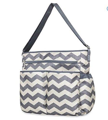 Tender Kisses 8 Piece Chevron Super Set Diaper Bag ()
