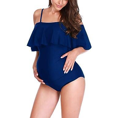taglia 40 1819c df4e6 2019 Costume da Bagno Premaman Intero Donna Incinta Bikini ...