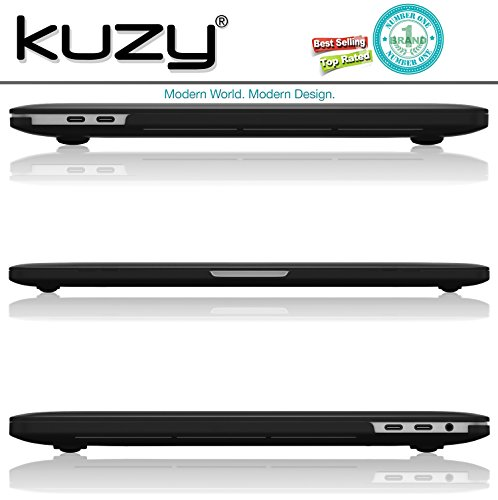 Kuzy MacBook Pro 15 Case 2018 2017 2016 Release A1990 A1707, Plastic Hard Shell Cover for NEWEST MacBook Pro 15 inch case with/without Touch Bar Soft Touch - BLACK by Kuzy (Image #4)