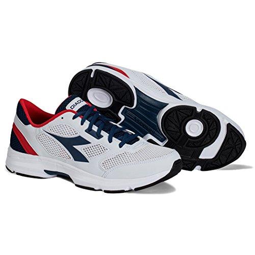 Adulte Mixte 7 Course de Shape SALTIRE NAVY Chaussures Diadora WHITE 6q4YA
