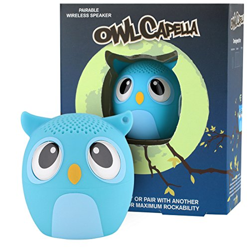 My Audio Pet Owl Mini Bluetooth Animal Wireless Speaker for Kids of All Ages – True Wireless Stereo Technology Pair with Another TWS Pet for Powerful Rich Room-Filling Sound – OWLcapella Blue