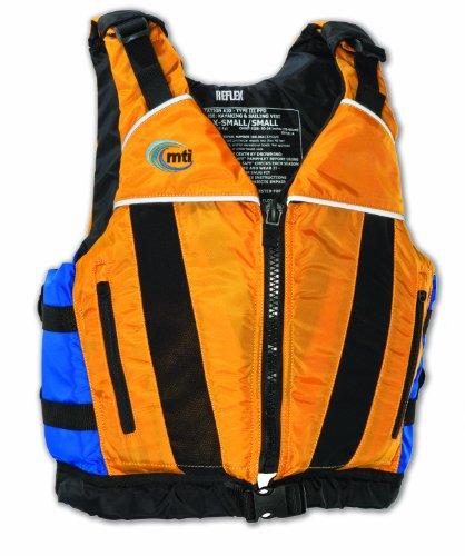 MTI Adventurewear Reflex PFD Life Jacket (Mango/Blue, X-Small/Small)