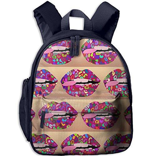 Toddler Kids Pink Punk Wallpaper Preschool Backpack Bags]()