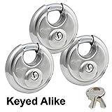 Master Locks - Keyed Alike Stainless Trailer Locks 40KA-3 Pack