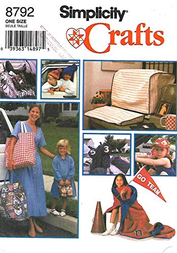 Cover Crt - Gift Package Pattern: Car Seat Cover, CRT & Keyboard Cover, Child's Roll-up, Large Tote, Lunch Bag, Golf Club Cover, Shoe Bag, Child's Cap, Stocking Hat, Stadium Blanket