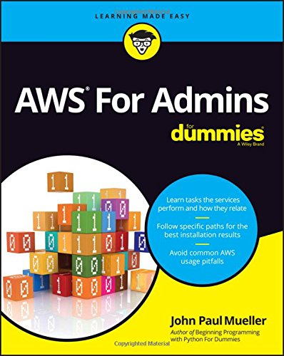 AWS For Admins For Dummies Front Cover