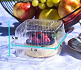 eHomeA2Z Food Containers Clear with Lids Hinged