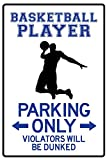 AllPosters Basketball Player Parking Only Poster Print 18 x 12 in