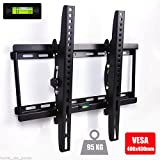 Excellent Adjustable TV Wall Bracket 15 Degree Tilt Mechanism Up/Down for 26-55 Inch LED LCD Plasma Flat TVs Capacity up to 70kg