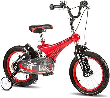 MAZHONG Bicicletas Bicicleta para niños Bicicleta para niños todo terreno Bicicleta vibrante para niños Estabilizador de bicicletas Ruedas y soportes en muchos tamaños (Color : Red -12 inch) : Amazon.es: Deportes