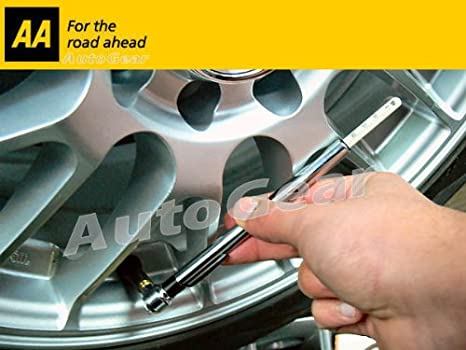 AA - Manómetro para presión de ruedas de coches, motocicletas y bicicletas: Amazon.es: Coche y moto