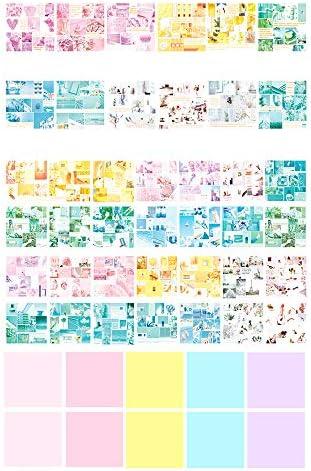 Hongma 50枚入り 折り紙 ペーパー カラフル 手芸 DIY 手作り 混合 可愛い 2