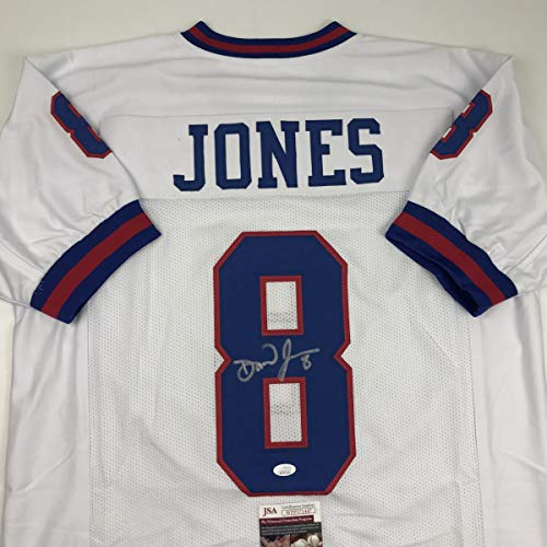 Autographed/Signed Daniel Jones New York Color Rush Football Jersey JSA COA