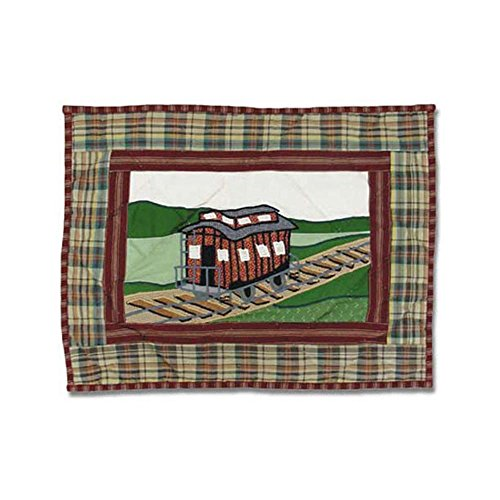 Patch Magic 16-Inch by 12-Inch Train Crib Toss Pillows