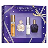 Elizabeth Taylor The Elizabeth Taylor Collection Gift Set for Women (White Diamonds Eau de Toilette Spray 0.5 Ounce, Forever Elizabeth Eau de Parfum Spray 0.5 Ounce, Violet Eyes Eau de Parfum Spray 0.33 Ounce, Passion Eau de Toilette Spray 0.5 Ounce)