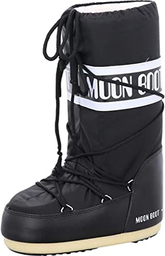 Tecnica Moon Boot Nylon, Botas de Nieve Unisex, Negro (Black 001), 35 EU