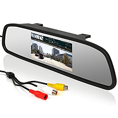 E-PRANCE® Car Rear View Mirror Monitor TV System PAL/ NTSC + 2 Channels Video Input