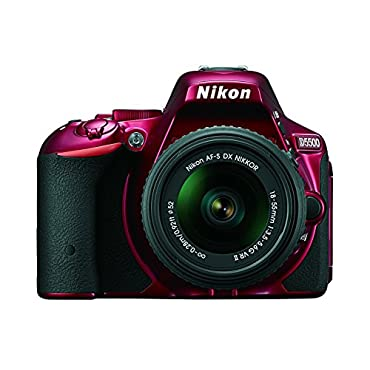 Nikon D5500 DX-format Digital SLR w/ 18-55mm VR II Kit (Red)
