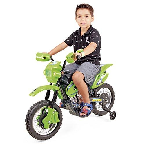 Moto Elétrica Infant Motocross Xplast Preto/Verde