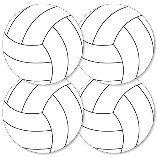 olleyball - Decorations DIY Baby Shower or Birthday Party Essentials - Set of 20 ()