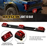 Partsam Red ID BAR Marker Light 3 Light 9 LED